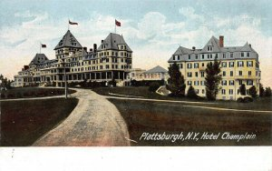 Hotel Champlain, Plattsburgh, N.Y., Early Postcard, Unused, Undivided Back