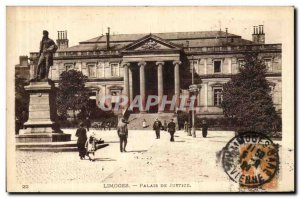 Old Postcard Limoges courthouse