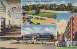 Massachusetts Worcester City Hospital 1947 Curteich