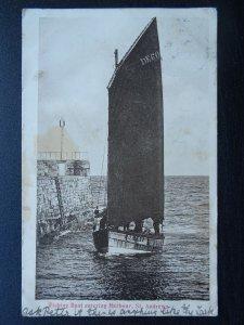 Scotland ST. ANDREWS Fishing Boats Reg DE 601 Sovereign in Harbour Old Postcard