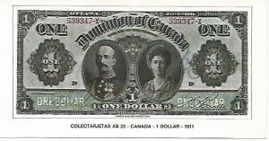 POSTAL 18143: 1 dolar de Canada 1911