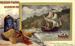 The half moon ascending Hudson Fulton Celebration Expostion 1909 Postcard Pos...