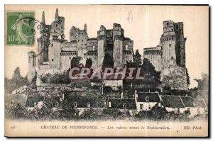 Old Postcard Chateau de Pierrefonds ruins before the Restoration