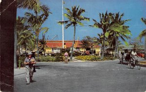 Nassau in the Bahamas Post card Old Vintage Antique Postcard Rawson Square 1959