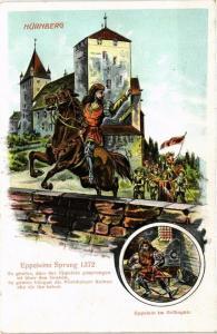 CPA AK NÜRNBERG embossed  Eppeleins Sprung GERMANY (670940)