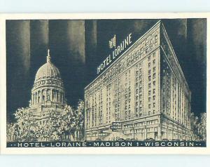 1940's HOTEL SCENE Madison Wisconsin WI H0483