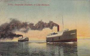 Excursion Steamers on Lake Michigan,  PU-00-10s