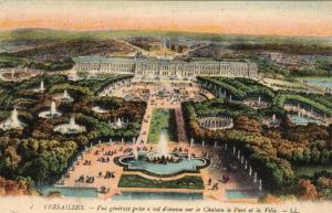 France Versailles Vue Generale prise a vol d'oiseau sur le chateau le parc 01.50