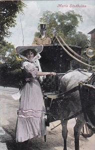 Marie Studholme With Horse and Carriage