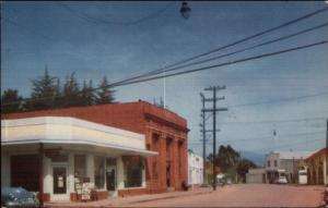 Cambria CA Main St. c1950 Postcard