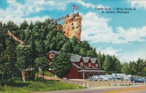 Michigan St Ignace Castle Rock
