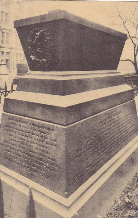 Monument of James Lawrence, Trinity CHurch, Broadway and Wall Street, New Yor...