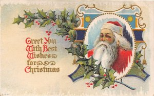 F94/ Santa Claus Merry Christmas Postcard c1910 Columbus Ohio 3