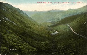 NH - Crawford Notch. View from Mt. Willard