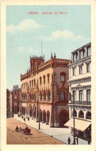 Portugal Lisboa Estacao do Rocio, carriage, street
