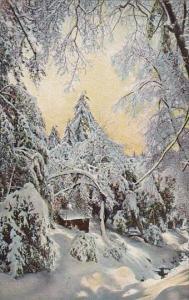 California Mount Lowe Above Alpine Tavern Winter Scene