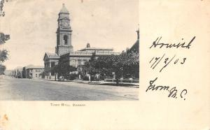 South Africa, Durban, Clock Town Hall 1903