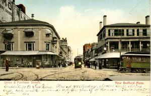 MA - New Bedford. Purchase Street and Union Street circa 1900