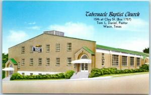 Waco, Texas Postcard TABERNACLE BAPTIST CHURCH 15th at Clay Street c1950s UNUSED