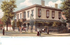 Civil War Post Card General Sherman's Headquarters Savannah, Georgia, US...