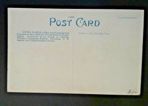 Mint Vintage Washington DC Hotel Harris 1920s Postcard