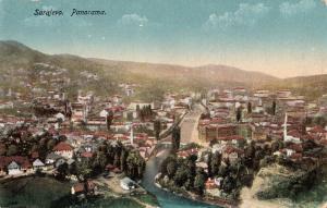 Bosnia Herzegovina Sarajevo panorama early postcard