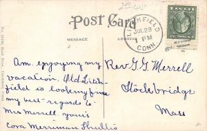 Litchfield Connecticut~Hotel Berkshire~c1914 Postcard