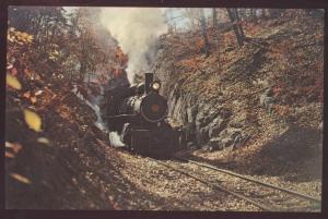 Wilmington Western 92 Engine Wooddale Steam Clay Red Railroad Postcard Train