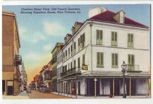 P782 old linen card cars etc street view charles street new orleans la