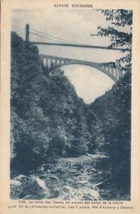 France, Savoie Tourisme,Le ravin des Usses, Les 2 Ponts , used Postcard