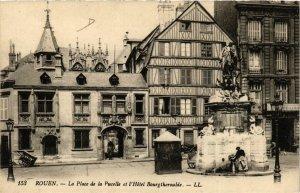 CPA ROUEN-La Place de la Pucelle et l'Hotel Bourgtheroulde (348463)