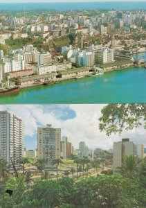 Salvador Brazil Harbour City 2x Spectacular Aerial Brazil Postcard s