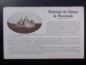 France: Historique du Château de Pierrefonds c1935 Old Postcard