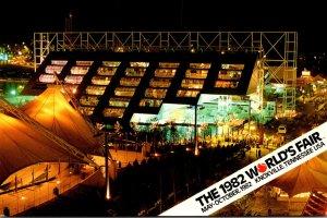 Tennessee Nashville 1982 World's Fair United States Pavilion At Night