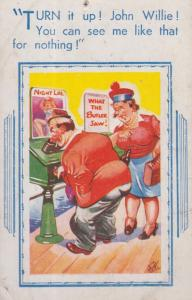 Angry Wife By What The Butler Saw Peeping Tom Dirty Husband Fair Comic Postcard