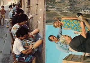 Malta Gozo Lace Making Workers 2x Postcard s