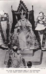 Scene In Westminster Abbey At The Coronation Of Her Majesty Queen Elizabeth 2...