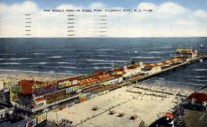 The World Famous Steel Pier Atlantic City NJ 1953