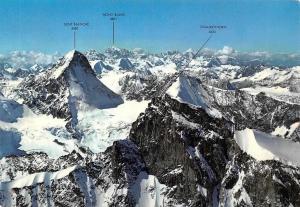 Switzerland Dent Blanche, Mont Blanc Zinalrothorn Mountains Landscape