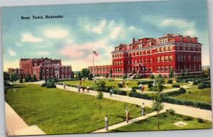postcard NE - Father Flanagan Boys Home, Boystown
