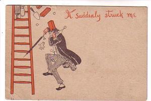 Formal Man Bricks Falling Ladder Vintage Cartoon, Elmsdale Nova Scotia Split ...