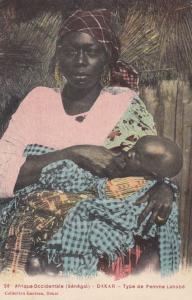 DAKAR - Type de femme Lahobe (Breast feeding child) - Senegal, 00-10s