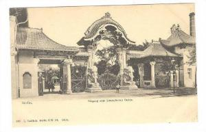 Elephant Statues at zoo entrance , Berlin , Germany , 1890s