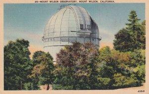 MOUNT WILSON, California, PU-1935; Mount Wilson Observatory