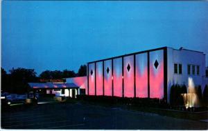 CEDAR GROVE, New Jersey  NJ   Roadside  FRIAR TUCK INN at Night  c1960s Postcard