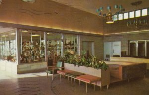 Gift Shop and Lobby, Glass House Restaurant, INDIANA Toll Road, 1962