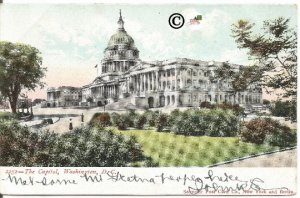 Undivided Back Postcard, The Capitol, Washington D. C. Souvenir Post Card