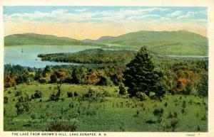 NH - Lake Sunapee. The View from Brown's Hill