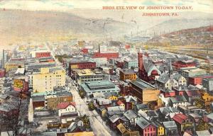 Johnstown Pennsylvania Birdseye View Of City Historic Antique Postcard K16357