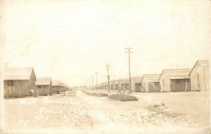 RPPC PARIS ISLAND, SC Military Barracks Parris Island c1910s Vintage Postcard